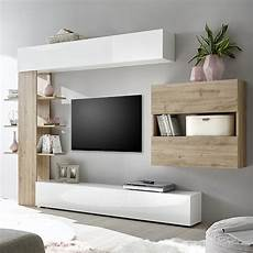 meuble salon blanc meuble tele mural blanc et bois grand meuble tv moderne