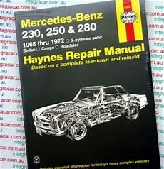 free car manuals to download 2007 mercedes benz clk class parking system mercedes benz 230 250 and 280 haynes new workshop car manuals repair books information