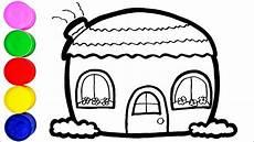 Haus Zeichnen Und Malen F 252 R Kinder Farben Lernen Auf