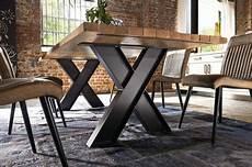 industrial tisch jains alte eiche table metal bois
