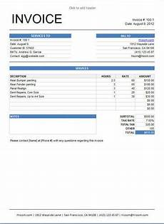 sle of an invoice for services apcc2017
