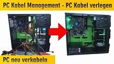pc kabel verstecken pc kabel management computer neu verkabeln und kabel sauber verlegen verstecken 4k