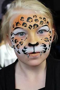 Kinderschminken Fasching Leopard Gesicht Makeup Leopard