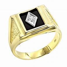 black onyx and diamond rings 14k gold mens ring 0 10ct