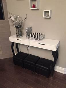 Diy Ikea Hack Console Table Alex Shelf With Drawers And 4