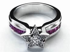 diamond star pink bridge engagement ring in 14k white gold diamond engagement rings uk pink