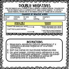 double negatives activity by bring lit teachers pay teachers