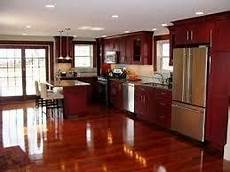 what flooring goes with cherry cabinets quora