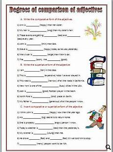 degrees of comparison exercises degrees of comparison comparative adjectives worksheet