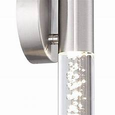 natalya modern wall light led brushed nickel 13 quot bubble acrylic sconce fixture for bathroom