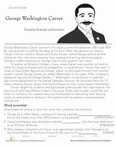 historical heroes george washington carver 2nd grade worksheets george washington carver