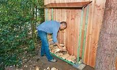 bauen im außenbereich tricks kaminholzlager selbst de