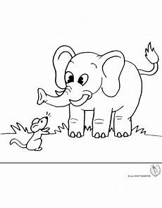 coloring page of elephant and mouse for coloring for