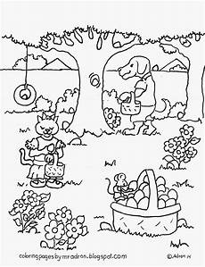 Easter Egg Hunt Coloring Sheets Coloring Pages For By Mr Adron Animal S Easter Egg