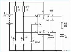 555 Timer Bistable Multivibrator Circuit Technology