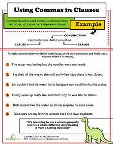 master the comma comma worksheets for 3rd graders education com punctuation worksheets