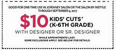 haircuts for kids at jcpenney salons only 10 with coupon saving toward a better life saving