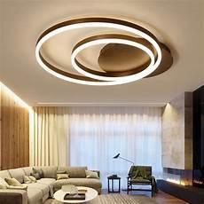 moderne deckenleuchte wohnzimmer led deckenleuchte modern zwei ringe aus acryl in 2020