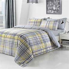 check yellow printed duvet quilt cover bedding set linens range