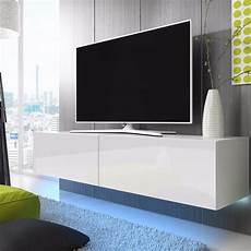 meuble tv a suspendre meuble tv meuble salon 200 cm blanc mat