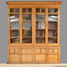spectacular solid oak arts and crafts victorian library bookcase dresser