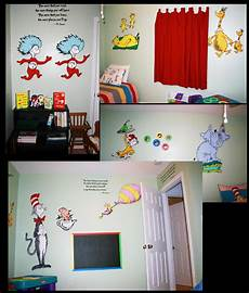 Seuss Bedroom Decor by Dr Seuss Room Ideas Painted Wallpaper Murals By Me