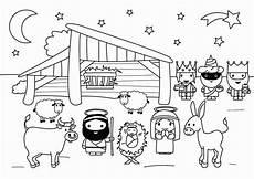 weihnachtskrippe zum ausmalen vorlagen zum ausmalen