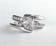 innovative wedding rings trillion diamond modern wedding ring set ambrosia