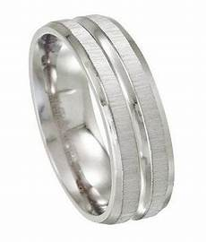 stainless steel satin and high polish wedding ring