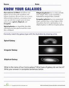 different types of galaxies worksheet education com