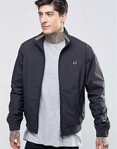 fred perry fred perry harrington jacket in black