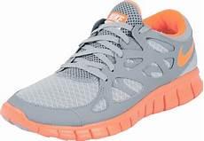 nike free run 2 ext w schuhe grau neon orange