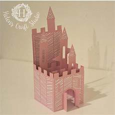 castle pop up card svg cutting file dxf cutting file and