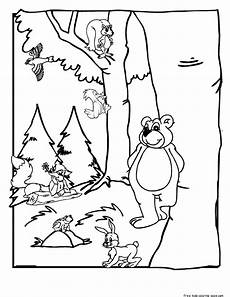 coloring pages animals in the forest 17029 printable forest animals coloring pages for kidsfree printable coloring pages for