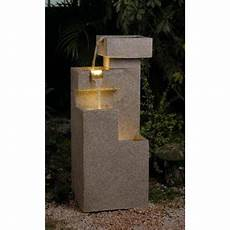 34 8 quot led lighted modern geometric sandstone outdoor patio garden water walmart com