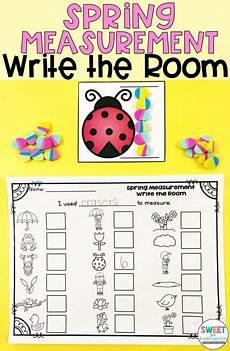 spring write the room measurement school kindergarten math activities measurement