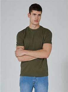 khaki jersey slim fit t shirt topman