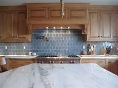 Blue Glass Tile Kitchen Backsplash Sea Blue Glass Tile Backsplash Design Ideas