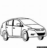 Honda Fit RED CARS Coloring Pages  Kids