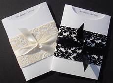 elegant wedding invitation diy kit pocket invite 25 pcs ebay