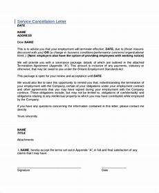 7 cancellation letter templates pdf doc free premium templates