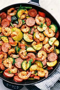 cajun shrimp and sausage vegetable skillet the recipe critic