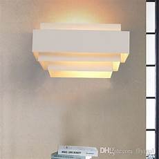 2018 contemporary indoor up down wall light curved white sconce lighting l modern brief