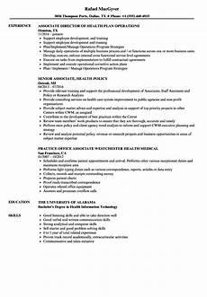 associate health resume sles velvet