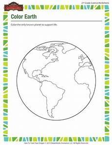 color earth 2nd grade kids online science worksheets sod