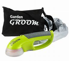 garden groom barber self collecting cordless hedge trimmer