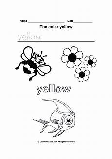 color yellow worksheets for preschool 12892 printable yellow color worksheet coloring worksheets for kindergarten preschool colors