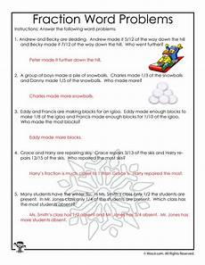 fraction word problems worksheets answers 10973 january fractions word problems worksheet answer key woo jr activities