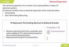 decimal expansion worksheets 7117 learnhive icse grade 9 mathematics number system rational and irrational numbers lessons