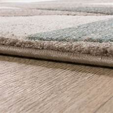 bettumrandung teppich bettumrandung l 228 ufer teppich konturenschnitt raute beige